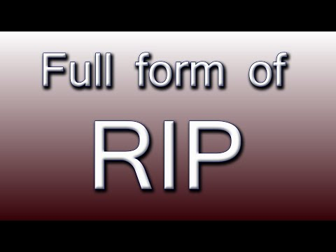 Full form of RIP - YouTube