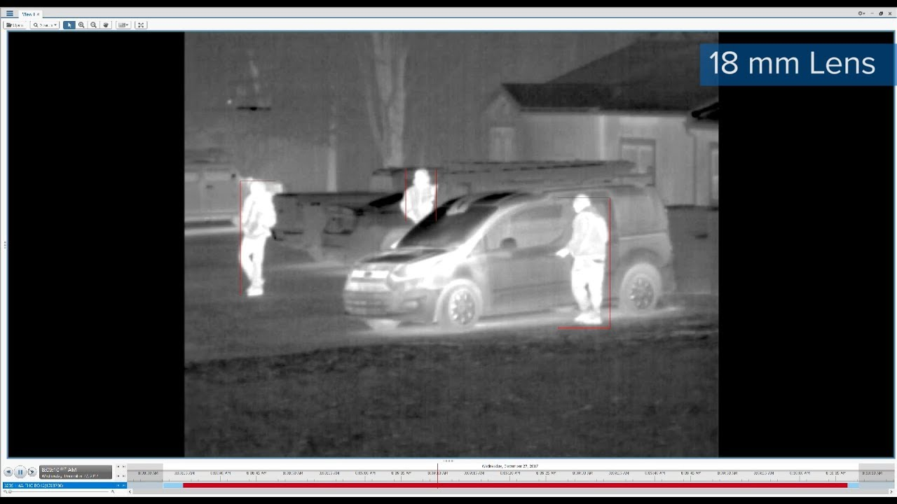 Avigilon H4 Thermal Camera Footage | Detecting People in a Parking Lot