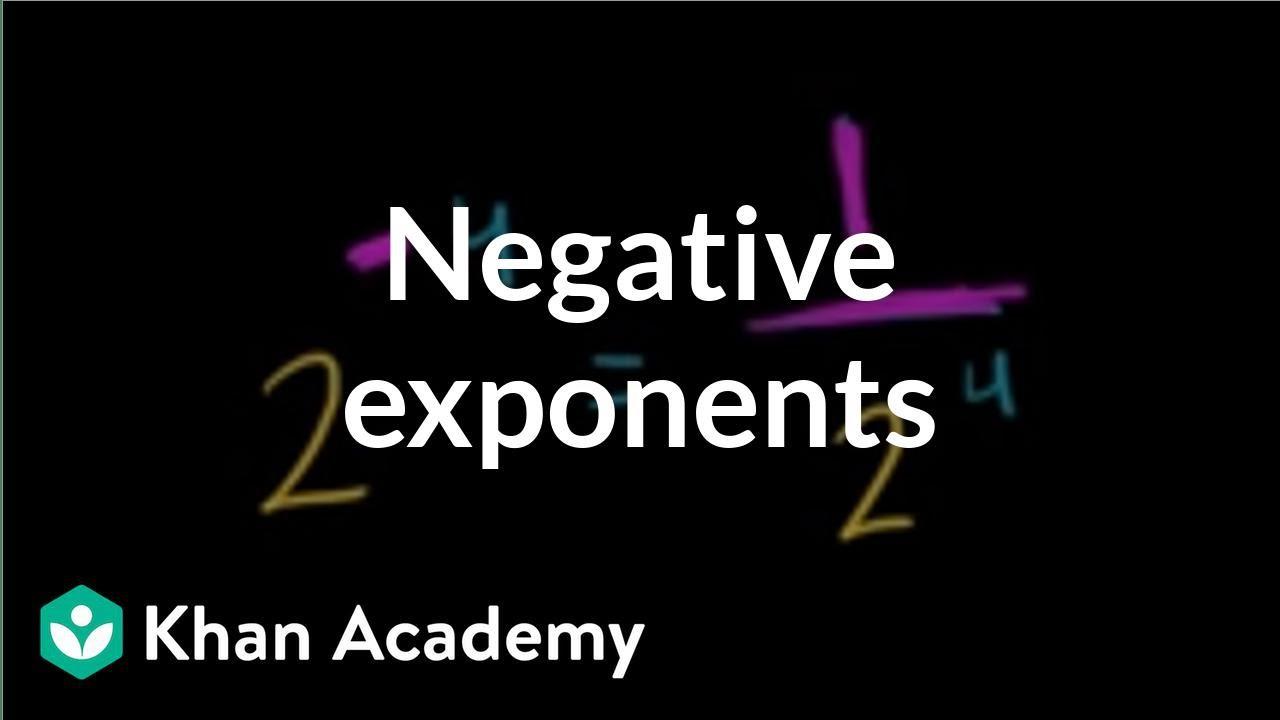 Negative exponents (video)   Khan Academy [ 720 x 1280 Pixel ]