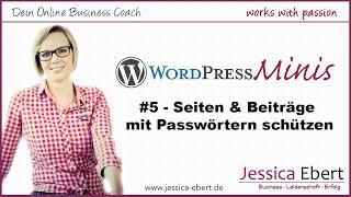 WP Minis #5 - Passwortgeschützter Bereich in Wordpress / Seite mit Passwort schützen