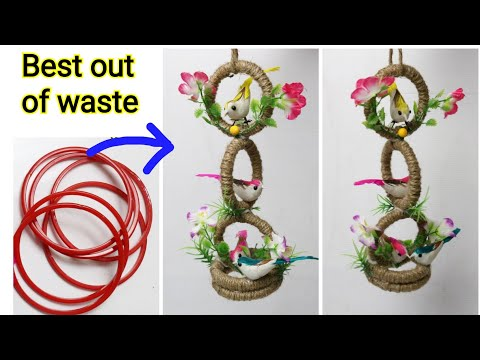 DIY Old Bangles Reuse Idea  Best Bangles Craft Idea  Best Craft Idea  Best out of waste