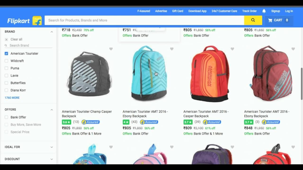 36b35a978171  DEAL OVER  Flipkart BigBillionSale - American tourister backpack at flat 50%  off.✓