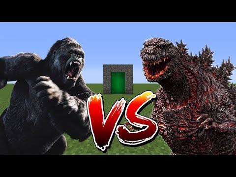 Minecraft Mod - Godzilla VS King Kong