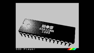 ZX Spectrum 128k: SID Player (Emulator for AY) playing C64 SID music! Vol. 4