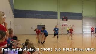 Handball. KSLI (Kiev, UKR) - Tertnes:2 (NOR). Viborg. U16G. Gr PO-A1. GENERATION HANDBALL-2018