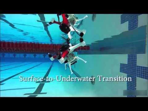 Drone Fly , float, swin underwater