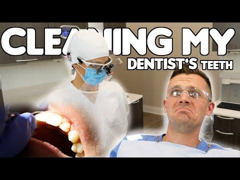 Dentist Gets Teeth Cleaned By Dental Hygienist