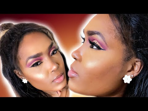 EASY CUT CREASE MAKEUP TUTORIAL FOR BEGINNERS | BeautywithGatiba thumbnail