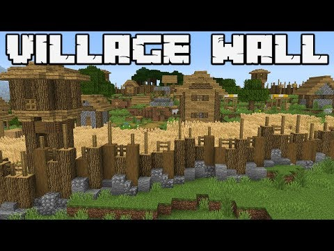 How to defend against a Pillager Raid : PLAINS VILLAGE WALL : MINECRAFT 1.14