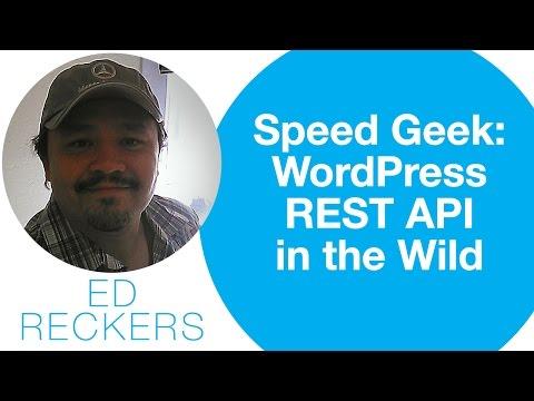 WPSFO Speed Geek - WordPress REST API in the Wild