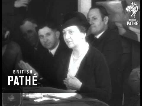 Macdonald In America - Mrs Roosevelt, Herriot, Ishbel Macdonald (1933)