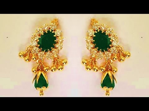 Light Weight Designer Gold Earrings 2018