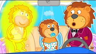 Lion Family pretends to be a parent for dad | Cartoon for Kids