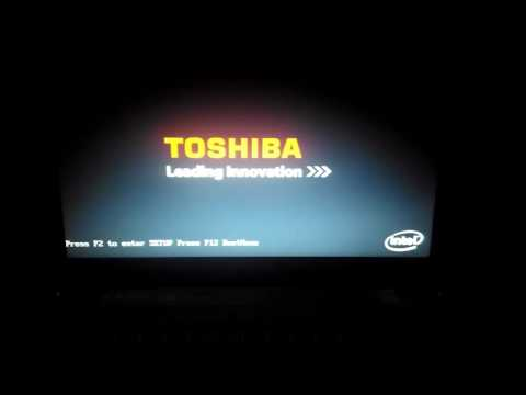 Toshiba laptop boot failed and error message