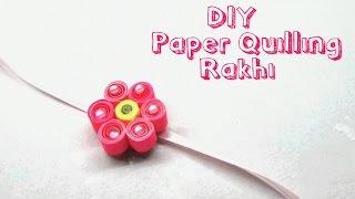 Paper quilling flower Rakhi for Raksha Bandhan | RAKSHA BANDHAN SPECIAL
