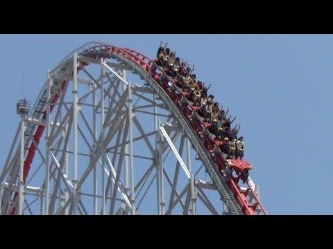 Steel Dragon 2000 New B&M Trains Roller Coaster POV Nagashima Spaland 2013