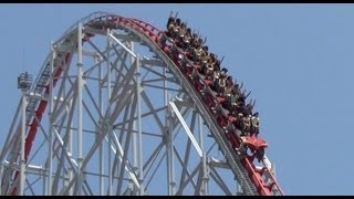 Steel Dragon 2000 New B&M Trains Roller Coaster POV Nagashima Spaland 2013