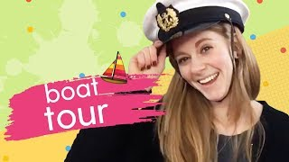 Living on a Boat! - House Boat Tour with Simone Giertz