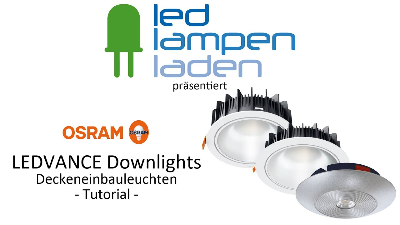 OSRAM LED Lampen | OSRAM LEDVANCE DOWNLIGHT | Ihr LED-Lampenladen.de ...