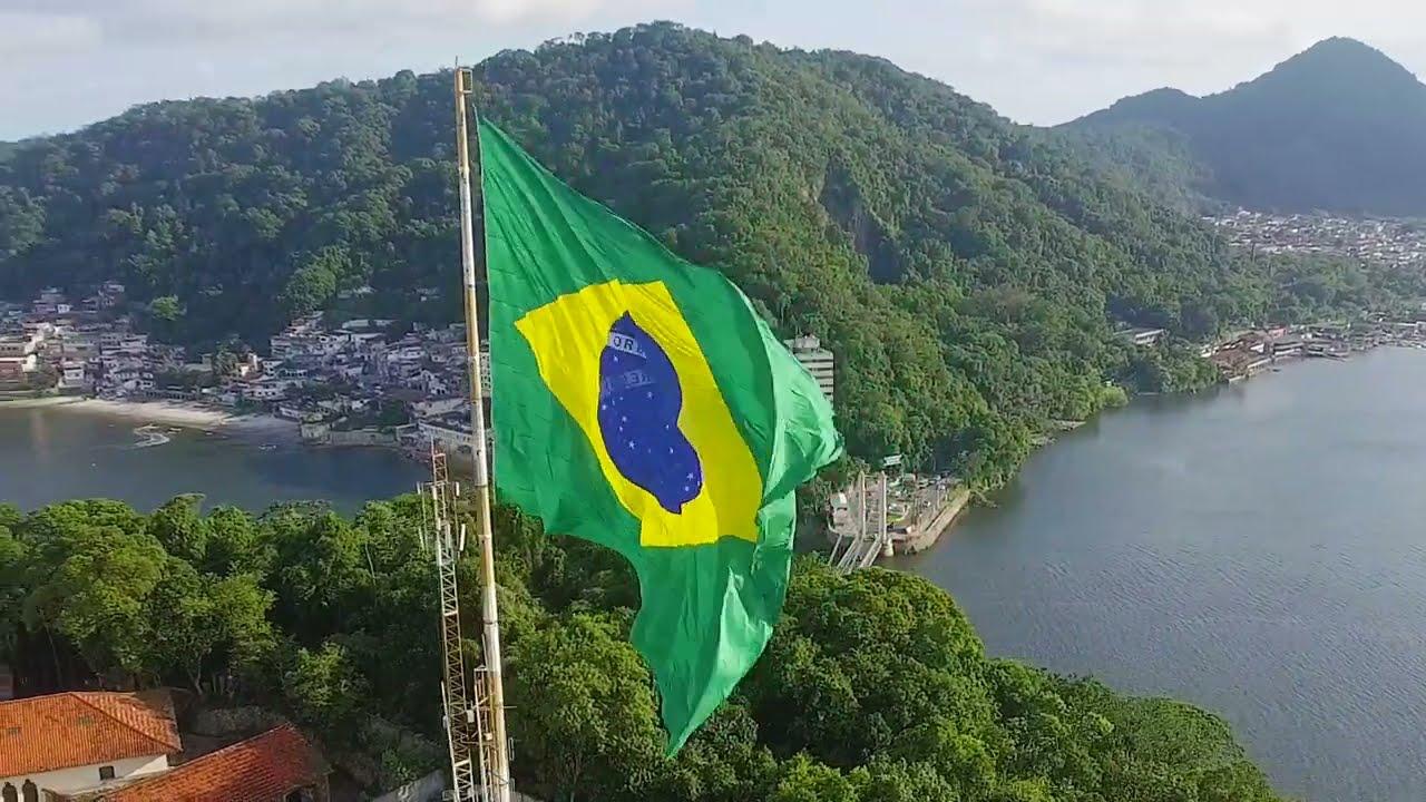 Bandeira Do Brasil Em S U00e3o Vicente YouTube