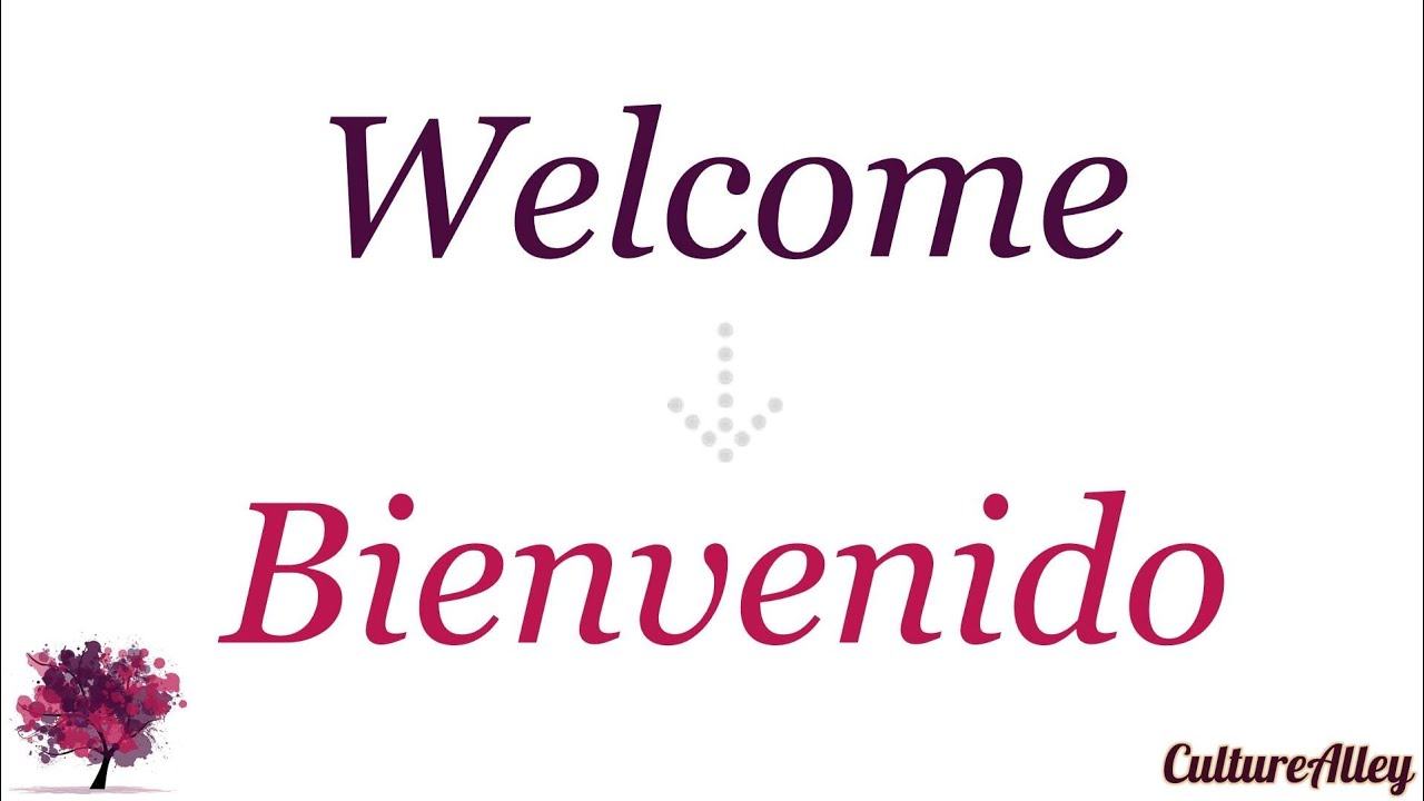 Welcome in spanish youtube welcome in spanish youtube kristyandbryce Choice Image