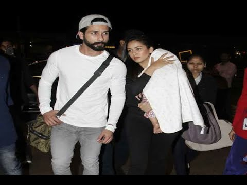 In Graphics: Shahid Kapoor and Mira leave for their vacation with Misha to ring in her fir