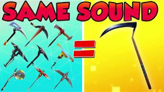 PICKAXES that SOUND like the SCYTHE! (FORTNITE BATTLE ROYALE)
