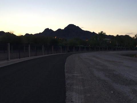Running Along the Arizona Canal in Phoenix