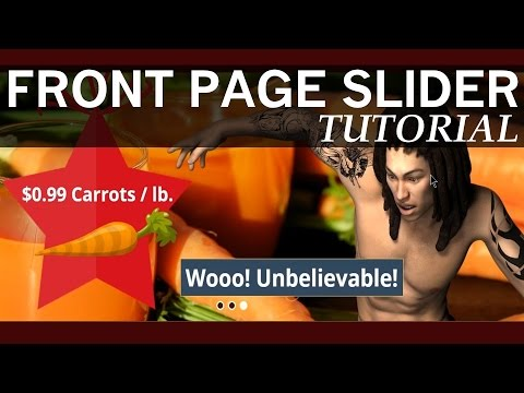 How to Make a Front Page Slider in Wordpress 2017 Tutorial