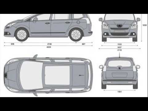peugeot 5008 dimensions youtube. Black Bedroom Furniture Sets. Home Design Ideas