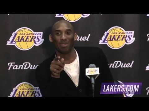 Dwyane Wade Interrupts Kobe's Postgame Interview  Heat vs Lakers  March 30, 2016  NBA