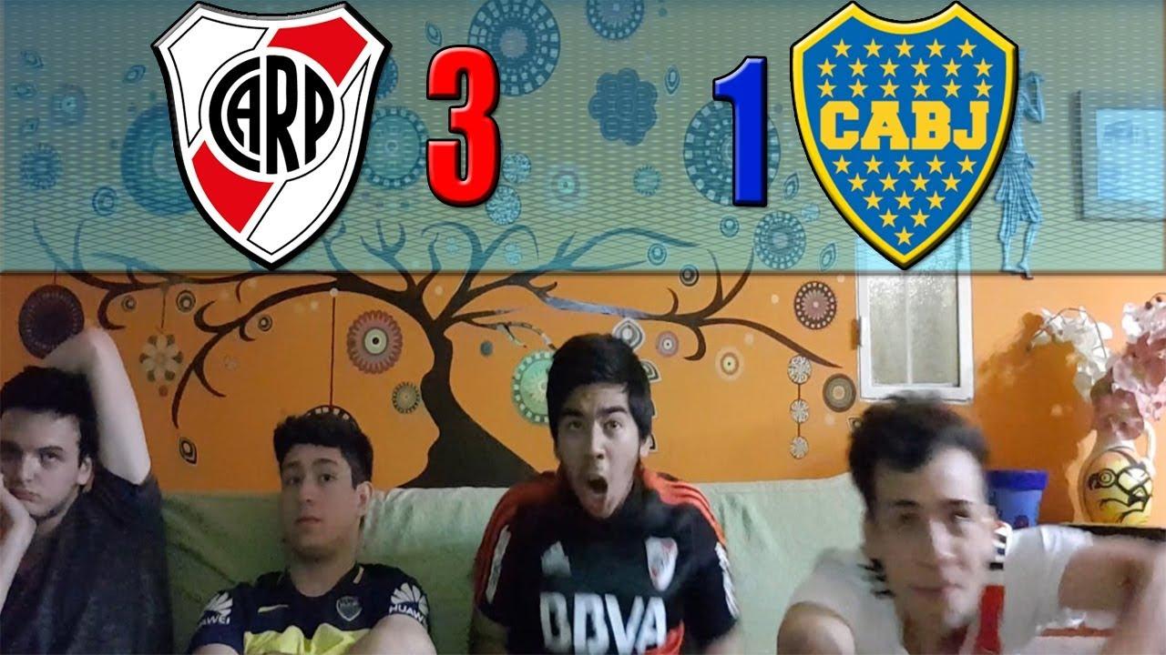 River 3 Boca 1   FINAL Copa Libertadores 2018   Reacciones de Amigos - YouTube