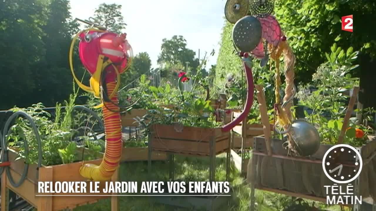 Deco Jardin Avec De La Recup jardin - relooker le jardin avec vos enfants
