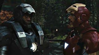 Железный Человек и Воитель сражаются с дронами - Железный Человек 2