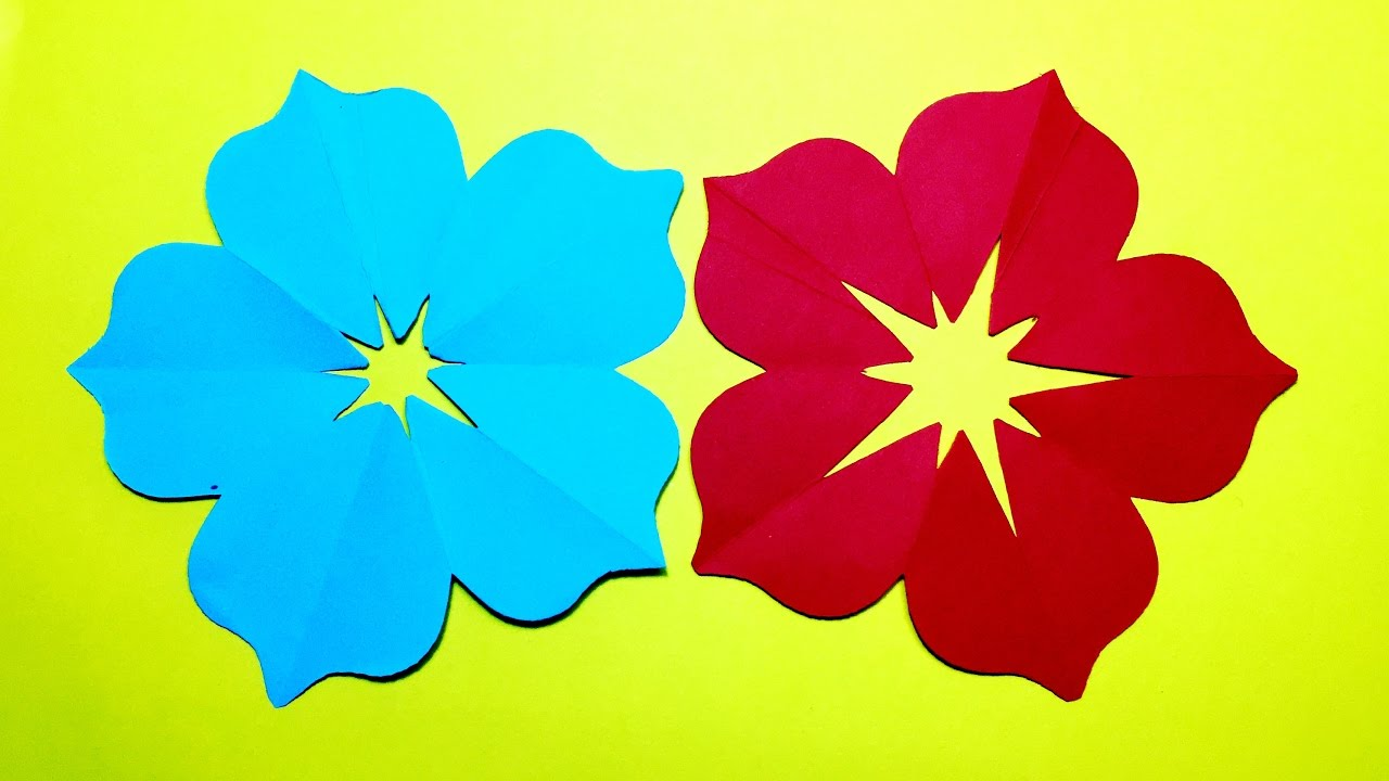Paper Flower Cut Out Selol Ink