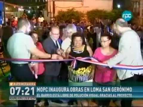 MOPC inaugura obras en Loma San Jerónimo - A Primera Hora Canal 13 RPC