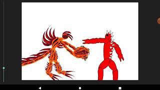 Оранжевый Монстр против мутанта в рисуем мультфильмы 2