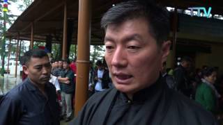 CTA President Dr. Lobsang Sangay Discourages Self-immolation act in exile