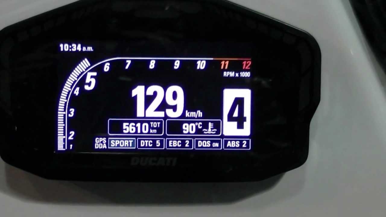 Ducati 1199 Panigale Motorcycle Digital Dashboard Demo