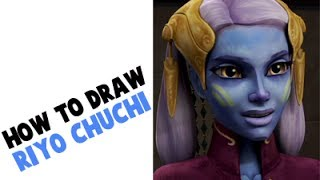 How to Draw Riyo Chuchi from Star Wars Clone Wars
