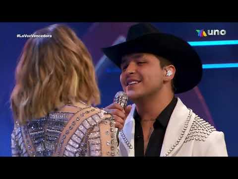 Christian Nodal Y Belinda Cantando La Voz Mexico Agosto 2020