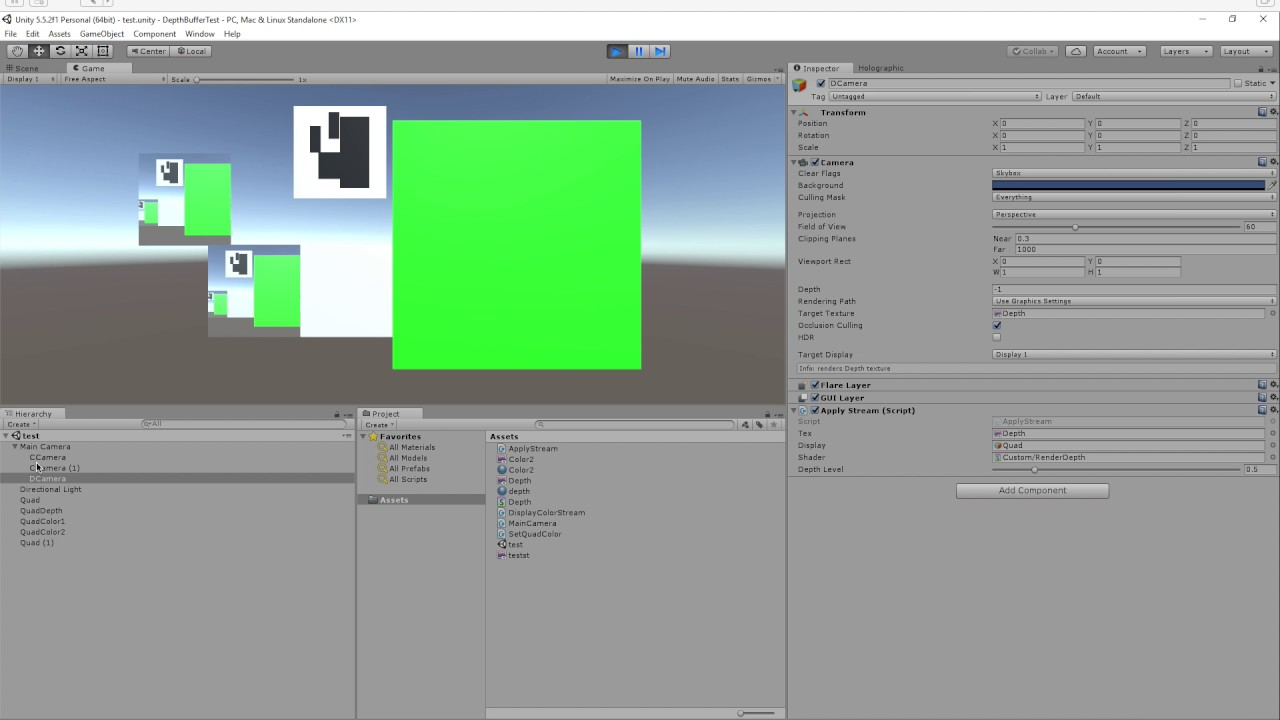 [SOLVED] Unity Depth Buffer Capture Using a Secondary Camera not working