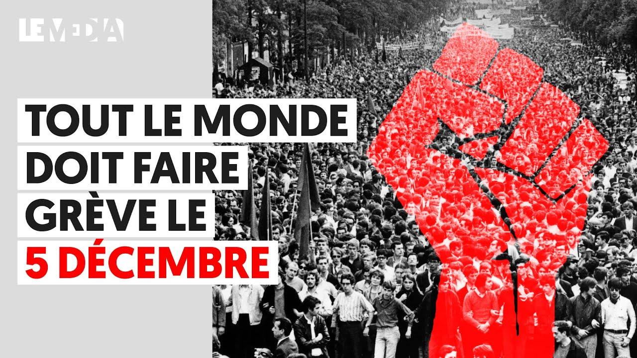 Image result for greve 5 decembre