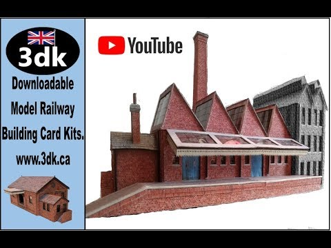 3dk Model Railway Building Card kit review