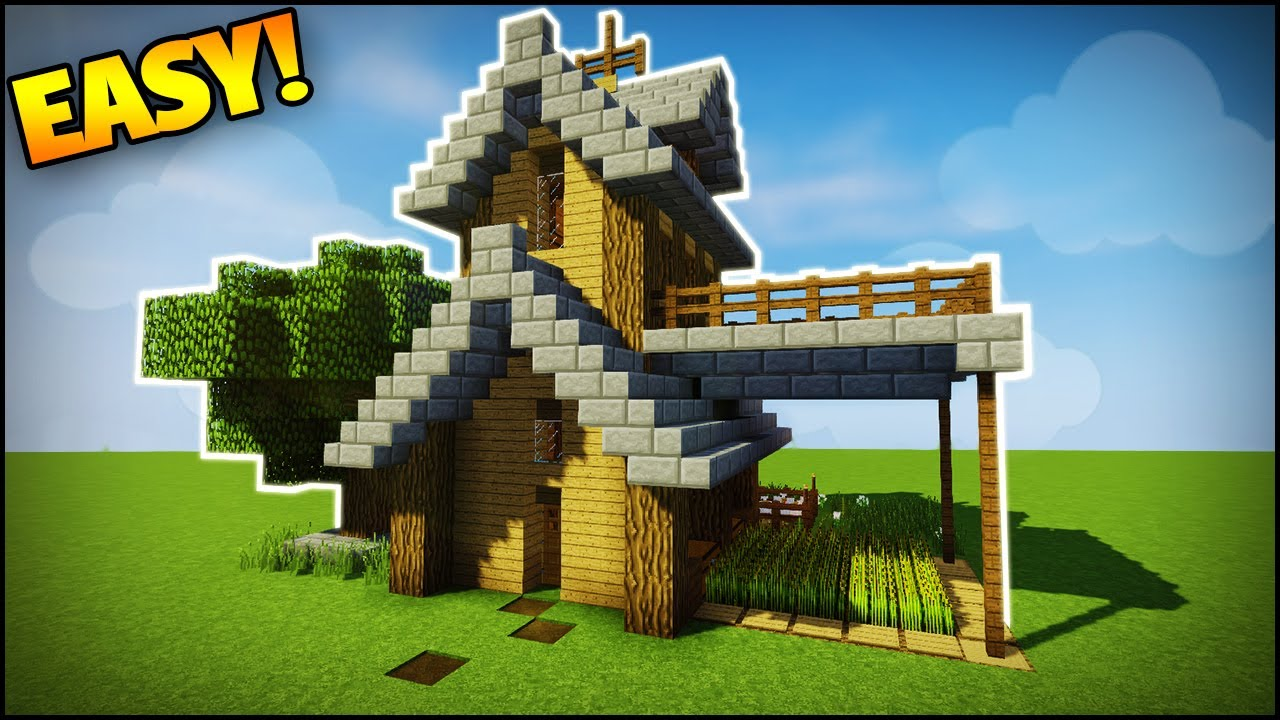 Minecraft  Survival  Starter House Tutorial - How To Build A House In Minecraft