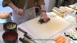 Chef-Japonais.com Préparation de sushis avec couteaux japonais KAI