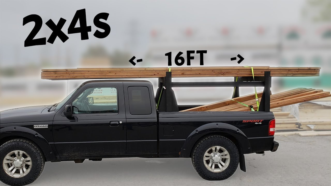 Diy Kayak Rack >> Homemade 2x4s Wood Truck Rack - Heavy Duty - YouTube