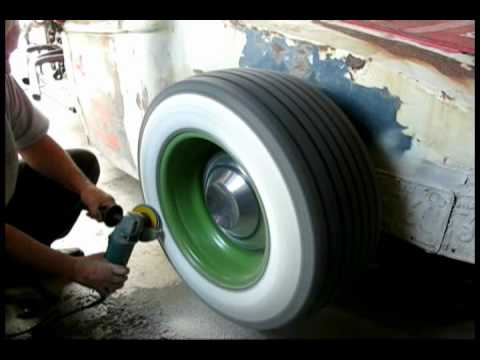Making Wide Whitewalls for the ratrod - YouTube