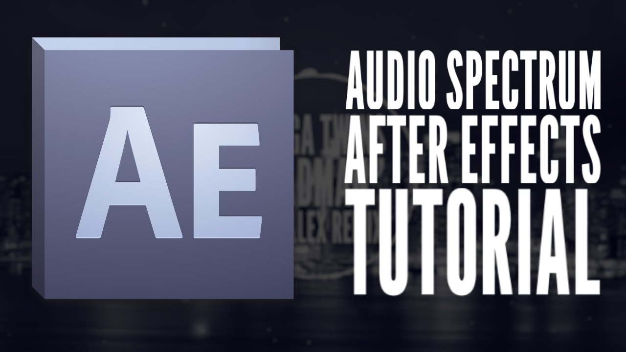 how to make an audio spectrum in after effects
