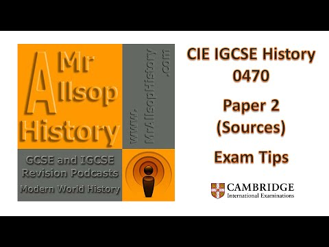 CIE IGCSE History 0470 Paper 2 Source Paper Exam Tips And Revision